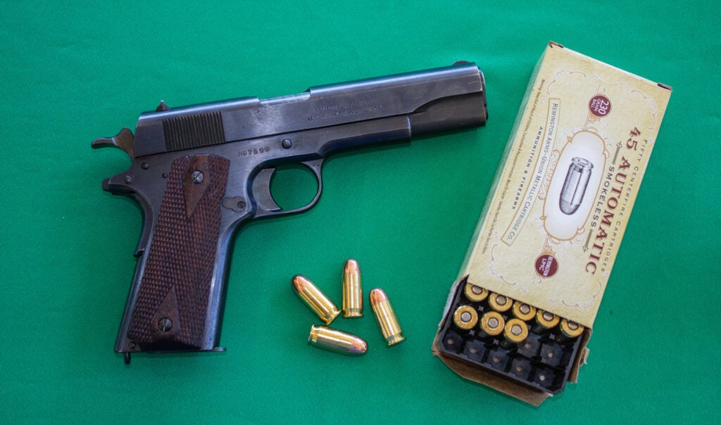 A WWI 1911 made by Remington.