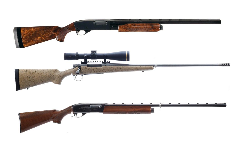 Remington 870, 700, and 1100.