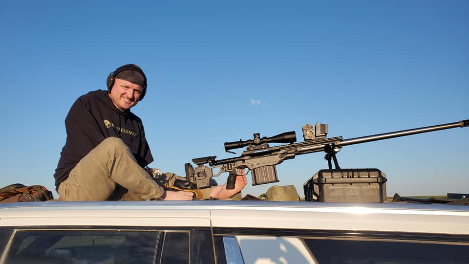 ELR shooter with long-range rifle.