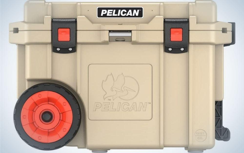 Pelican cooler with wheels