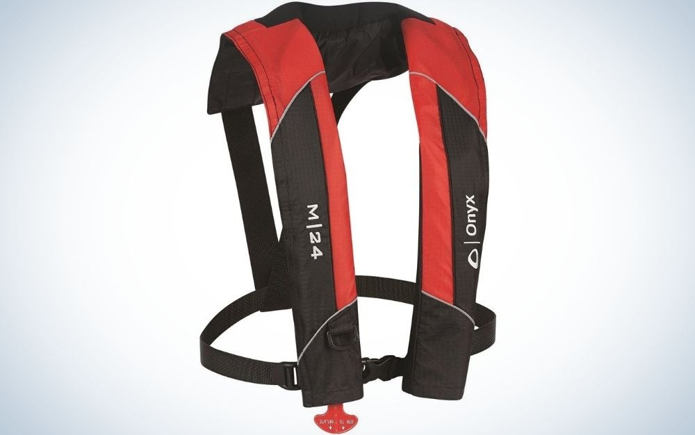 the inflatable life jacket is one of the best gifts for dads fishing