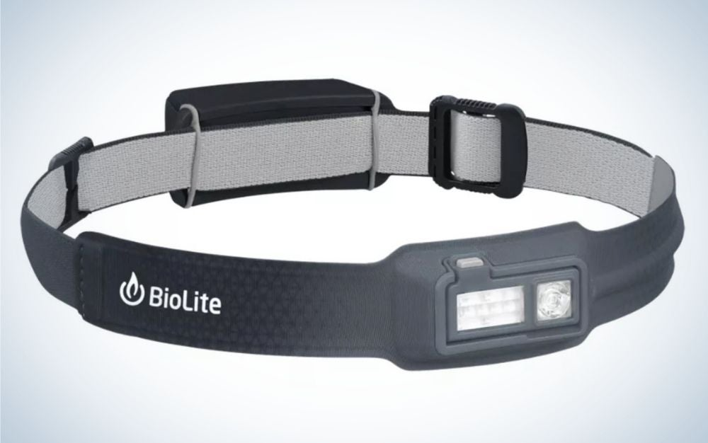 Grey Biolite headlamp for Father's Day