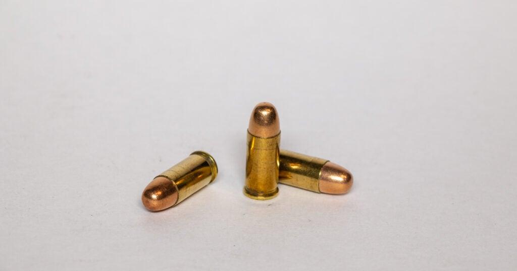 .32 ACP handgun cartridge.