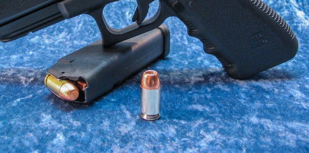 .45 GAP handgun cartridge.