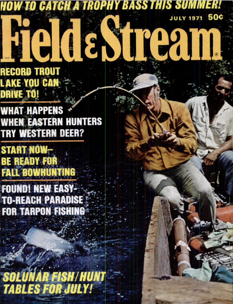The July 1971 cover of Field and Stream magazine