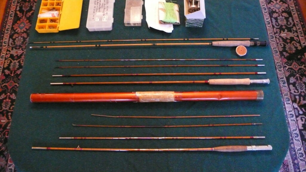 Fishing rods that belonged to Norman Maclean