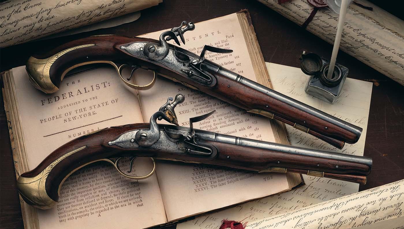 Alexander Hamilton war pistols