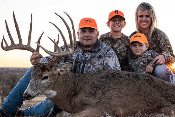 Troy Bryant and Oklahoma typical whitetail buck.
