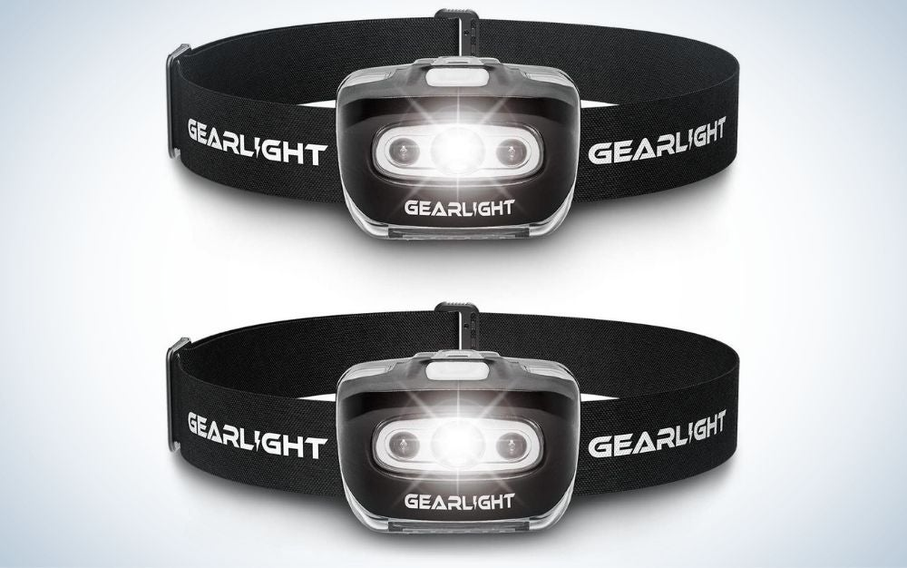 2-pack LED headlamp flashlight is a useful gift for men