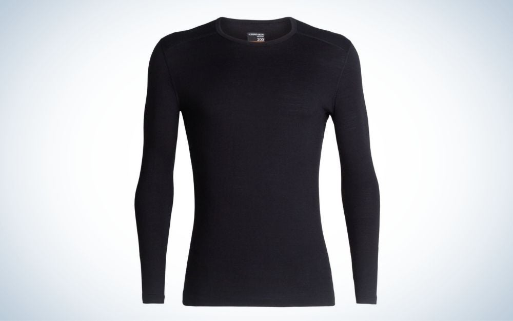 Black, Merino wool long sleeve top for men are the best gifts