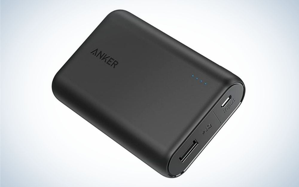 Small, black Anker portable charger are useful gifts for men