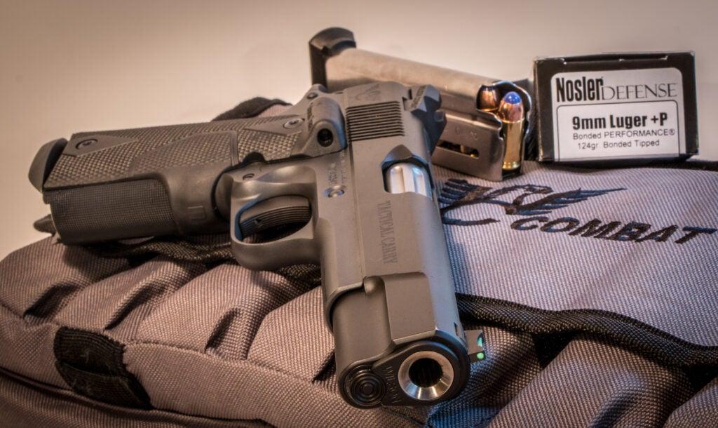 9mm handgun and ammo