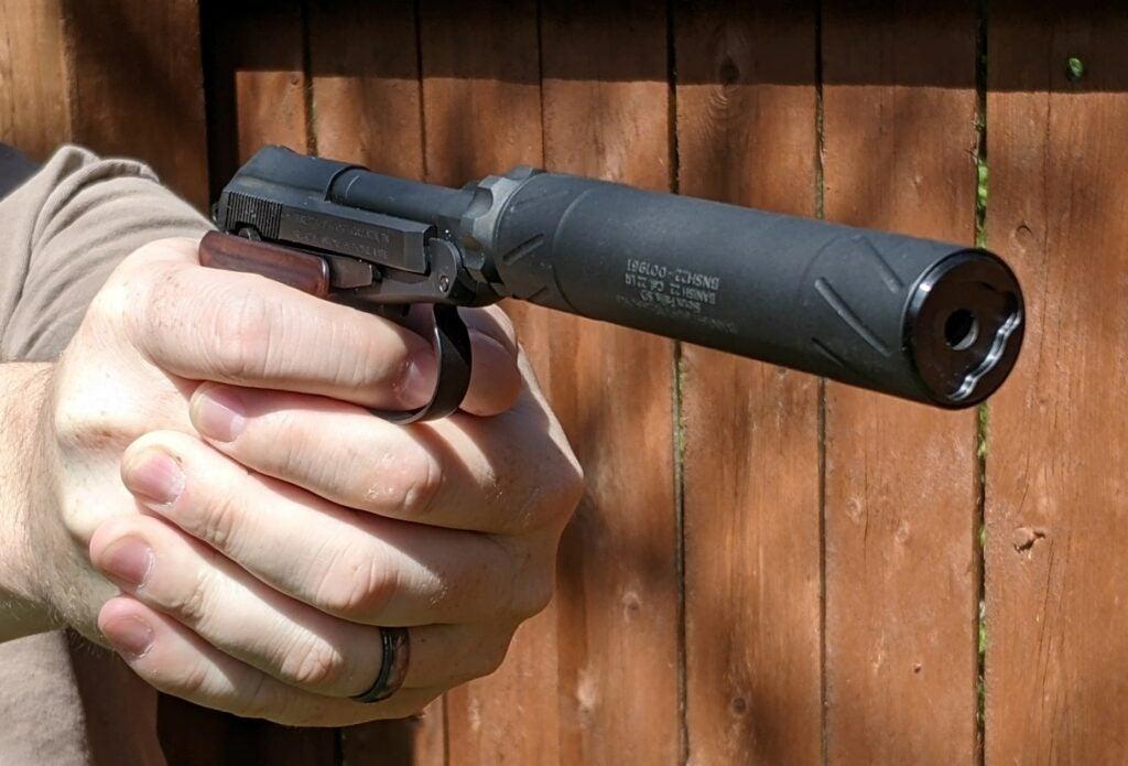 Banish 22 Suppressor on Beretta 21A Covert