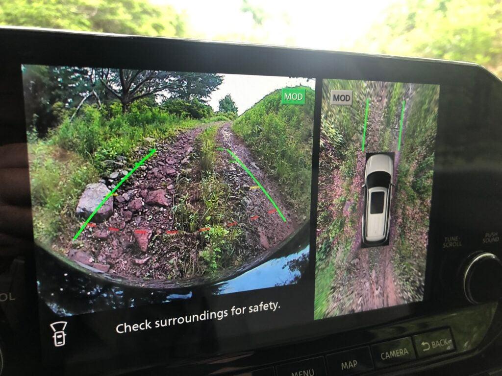 The 2022 Nissan Pathfinder has a forward-facing camera.