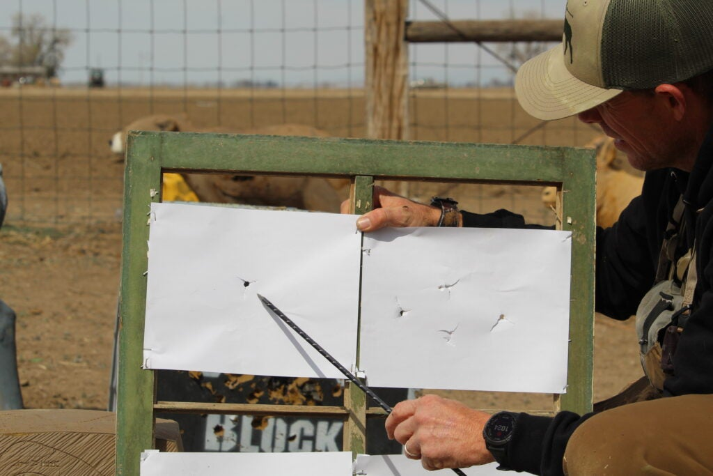 How to tune a compound bow step 6: Paper tuning a bow