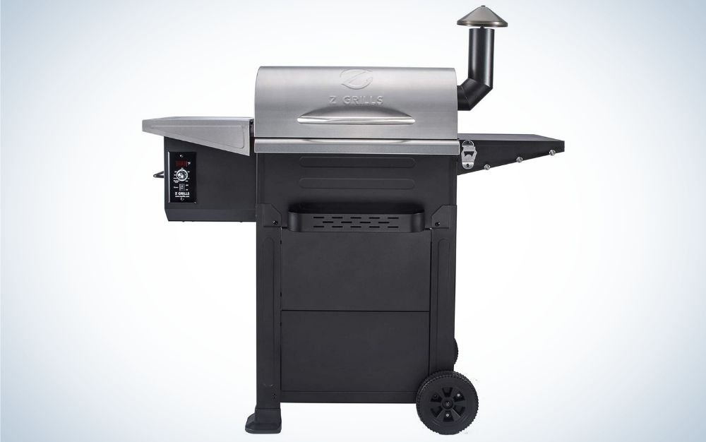 Black and silver wood pellet grill and smoker great prime day deal on grills