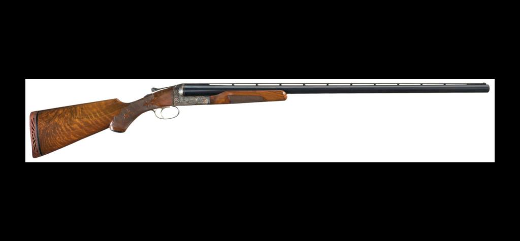 Ithaca 10-gauge shotgun.