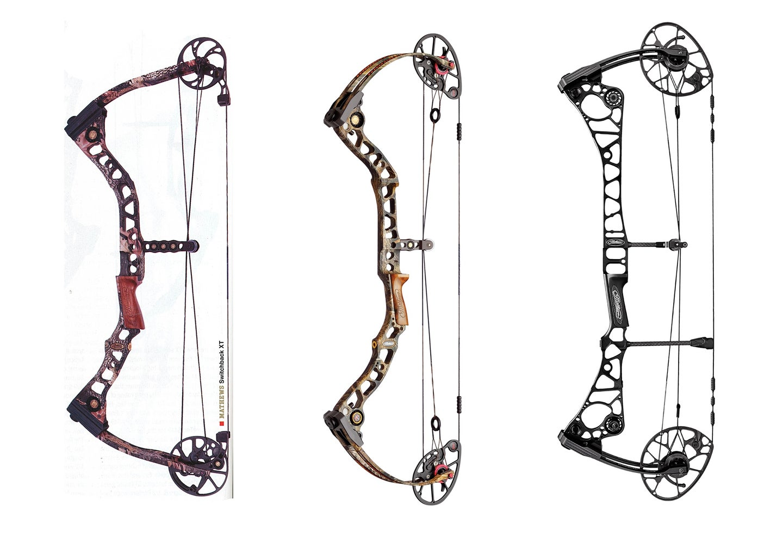 Three compound bows