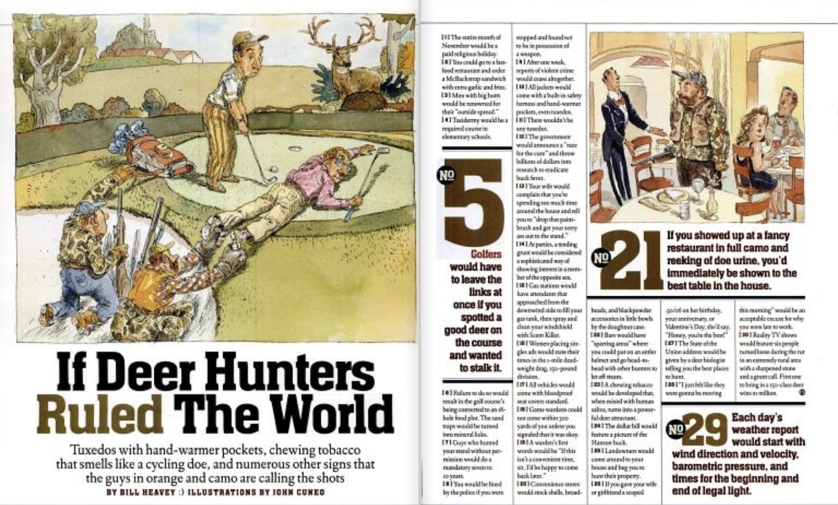 F&S Classics: 30 Things That Would Happen if Deer Hunters Ruled the World