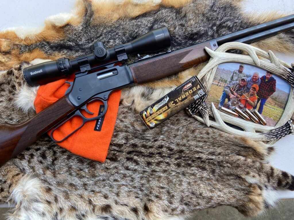 Henry lever action rifle