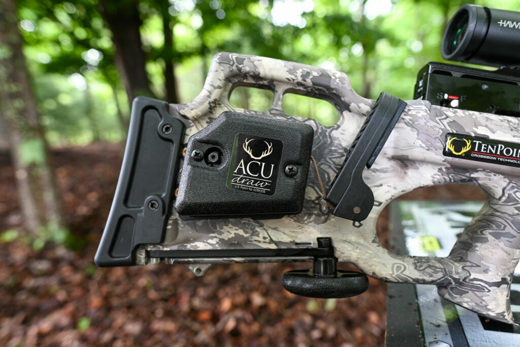 The ACUdraw accessory on a TenPoint crossbow