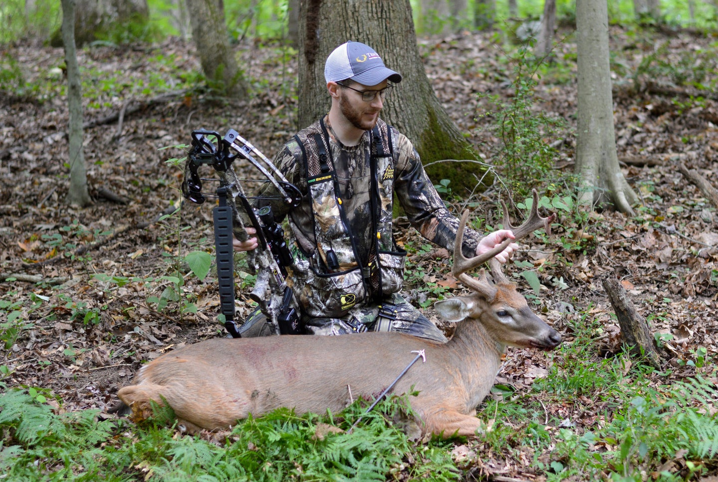 A deer hunter shot a whitetail deer with the Tenpoint Titan M1 crossbow