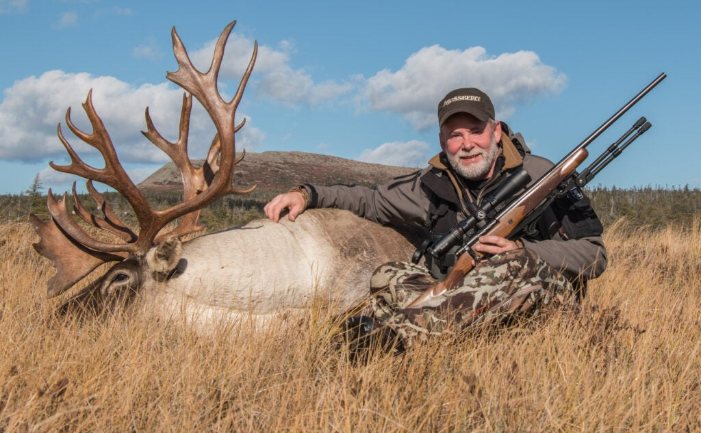 The author with a caribou taken with a 6.5 Creedmoor