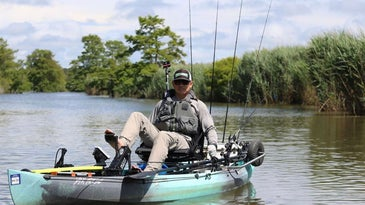 Fisherman on kayak