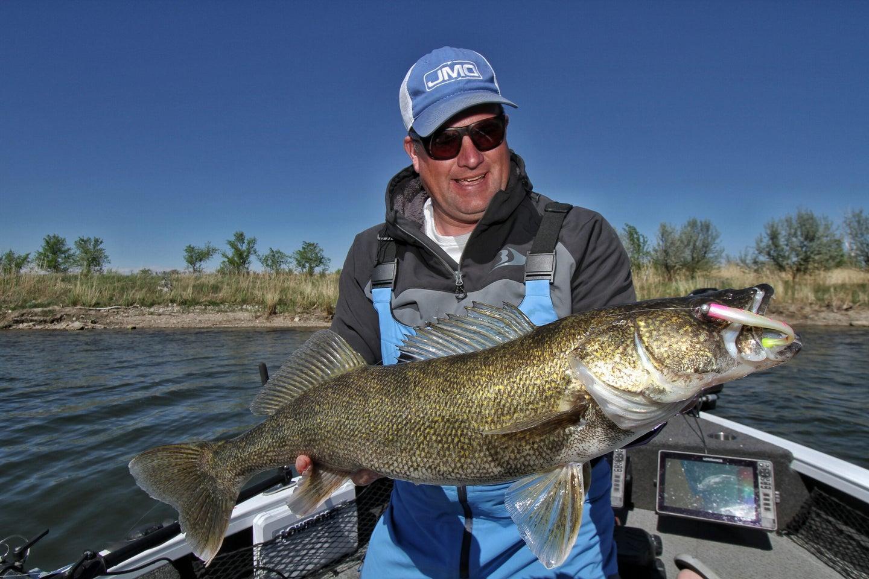 Jason Mitchell with big walleye