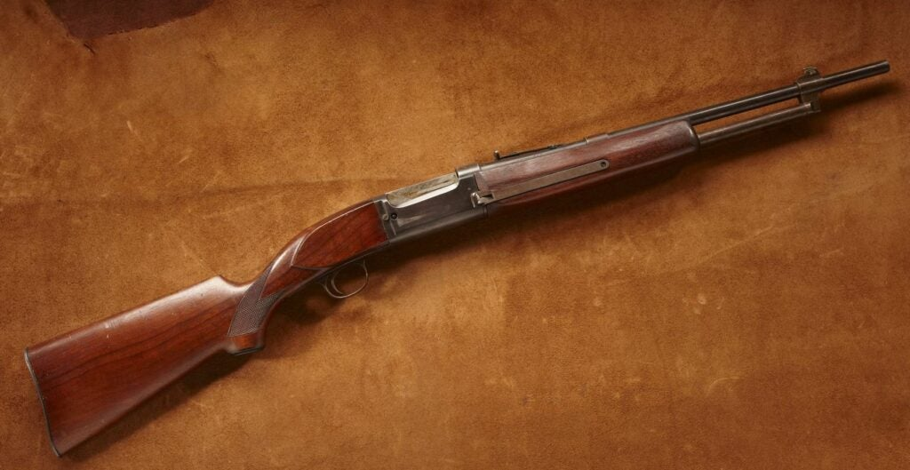 Bill Ruger's modified Savage Model 99.