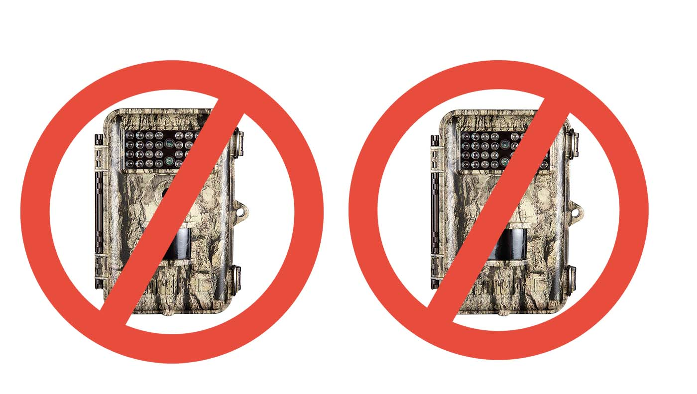 Trail cameras banned.