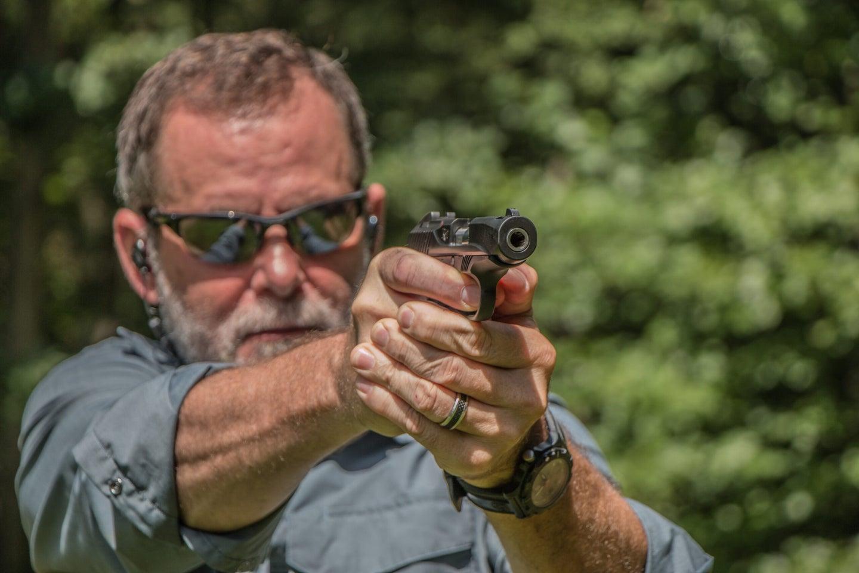 Richard Mann shoots hadgun