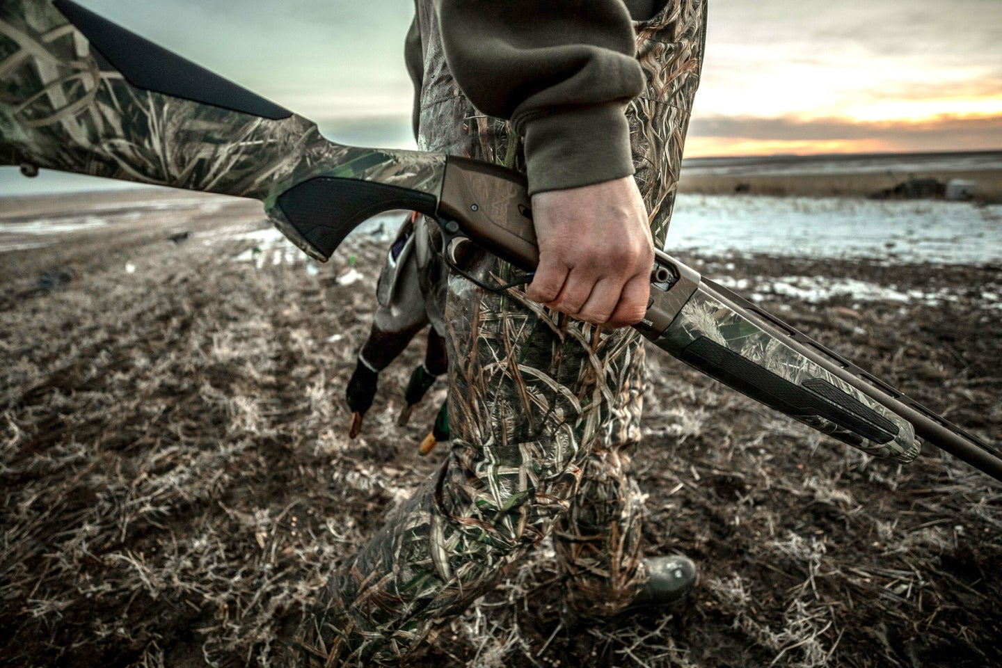 A hunter with the new Browning Maxus II shotgun