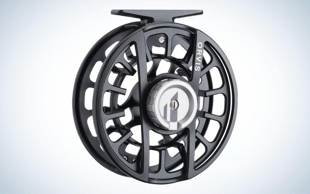 Black Orvis Hydros fly fishing reel