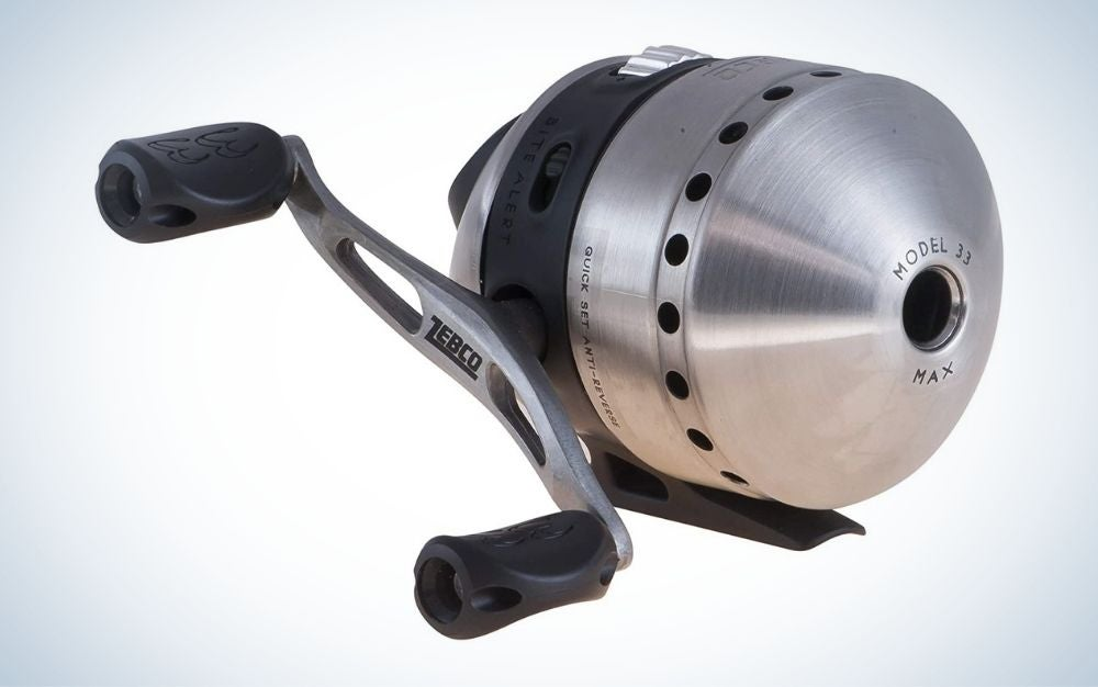 Zebco Spincast fishing reel with left/right hand orientation