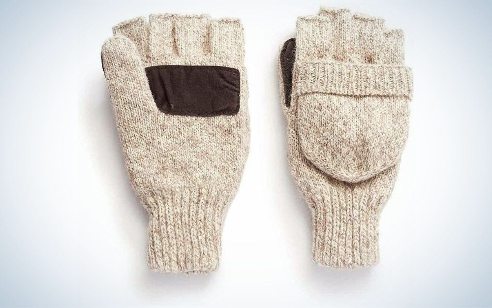 Oatmeal, wool, pop-top mittens the best fishing gift for winter