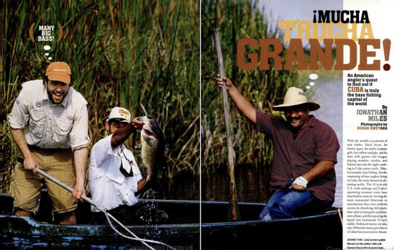 Largemouth bass fishing in Cuba