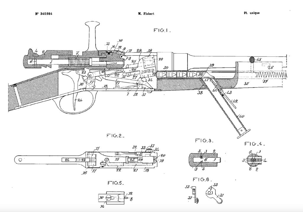 Diagram of Flobert gun.