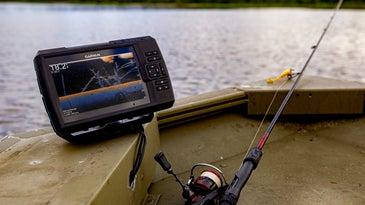 Garmin fish finder on boat