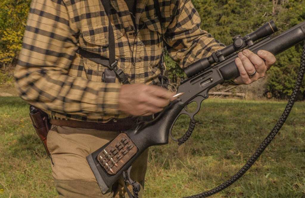 Hunter with lever-action .30/30