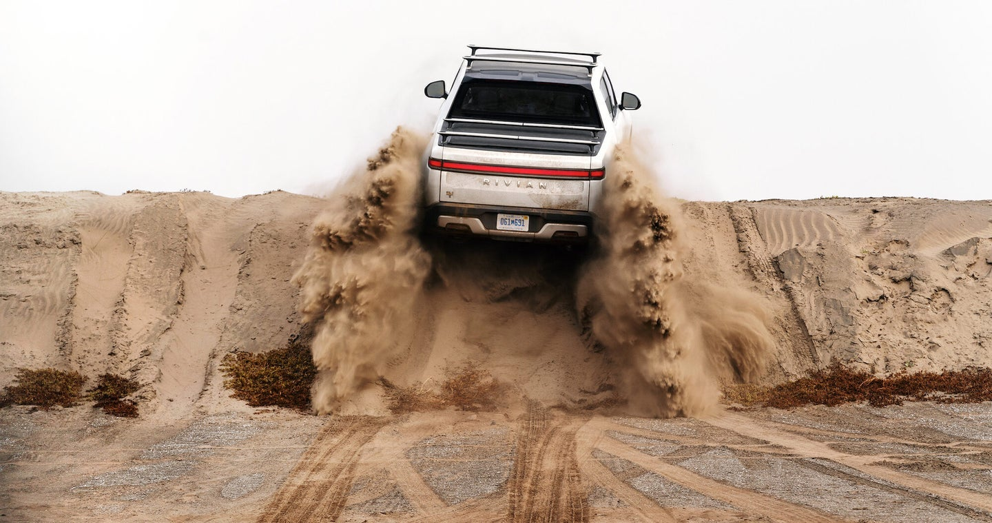 The Rivian R1T truck is great for car camping