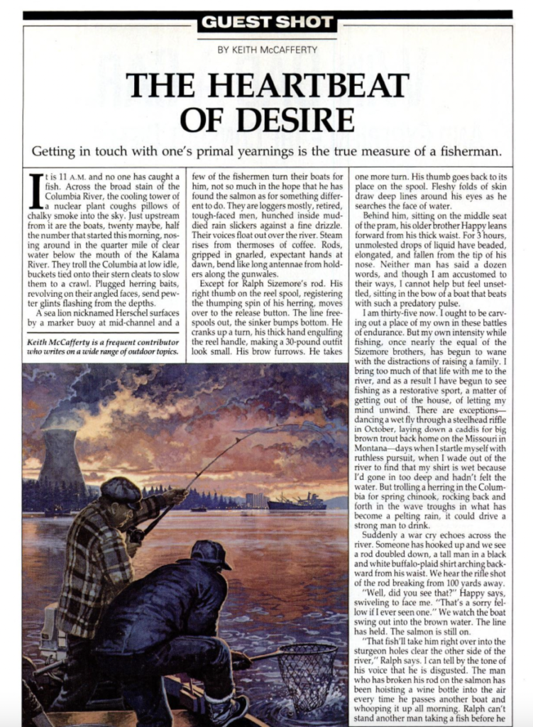 the heartbeat of desire is a fishing story from Field & Stream magazine.