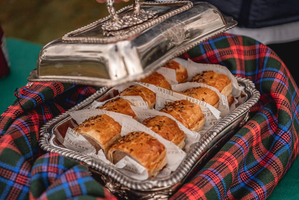 The famous Tulchan Sausage rolls produced by headchef Olie Wilson
