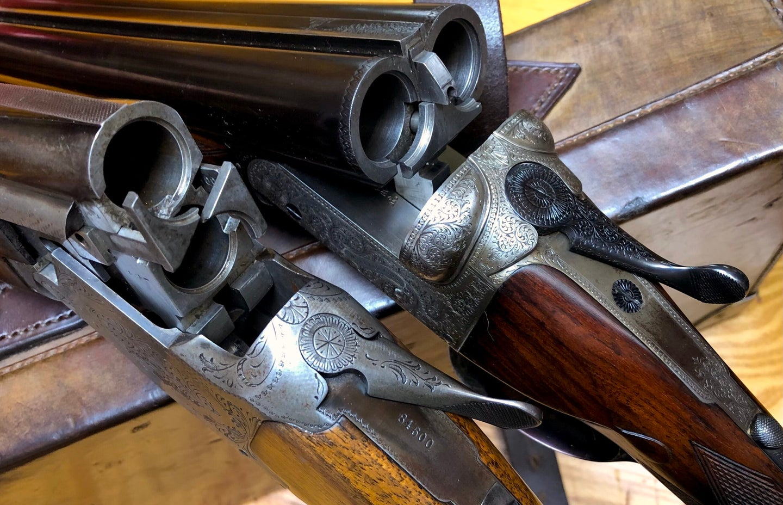 Two classic hunting shotguns.