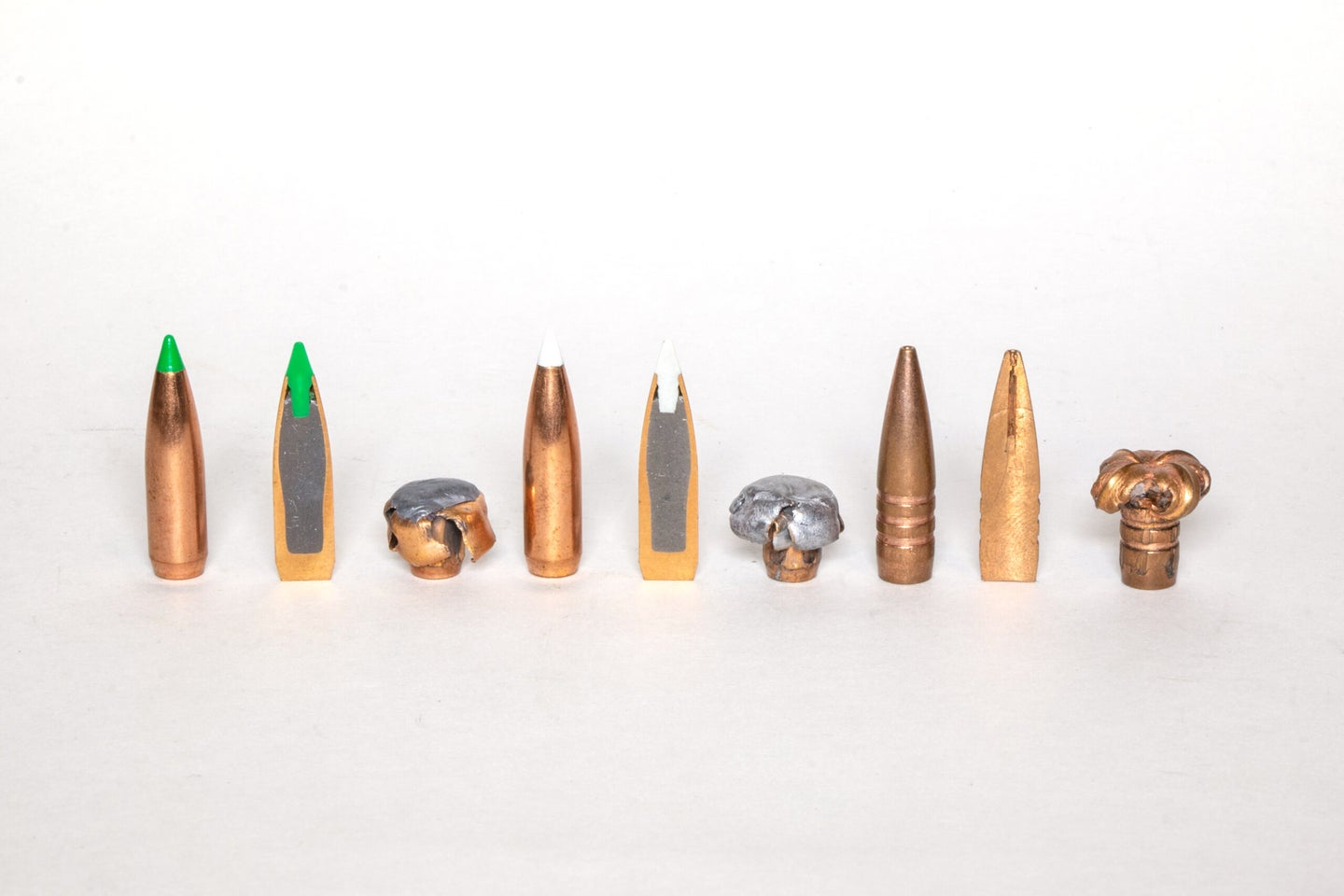 Jacketed, bonded, and all-copper bullets
