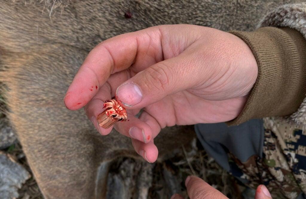 All-copper big-game bullet