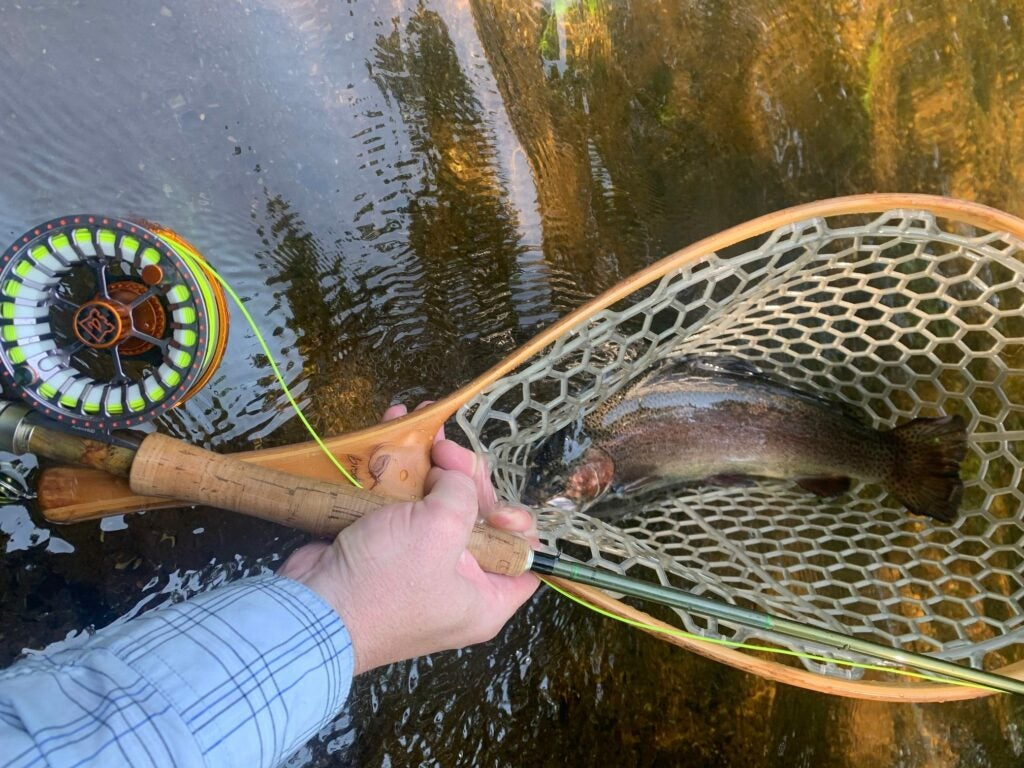 Fly fishing for trout with the Hardy Ultralite MTX-S fly reel