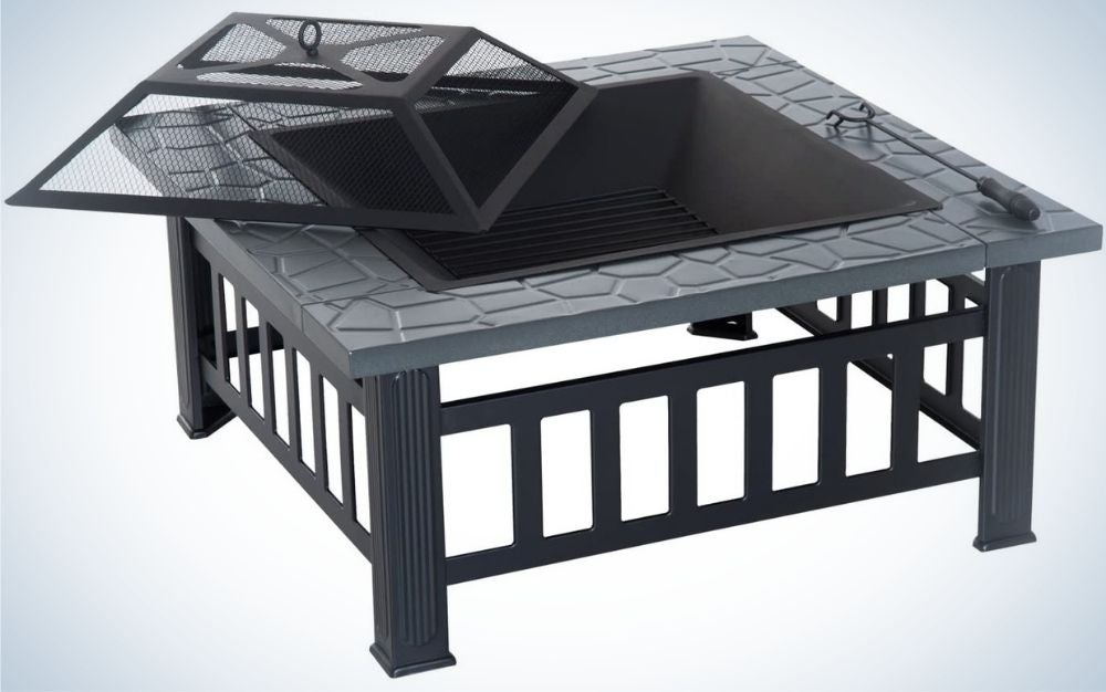 Outsunny is our pick for the best fire pit for wood burning.