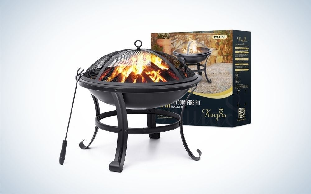 KINGSO is our pick for the best fire pit on a budget.