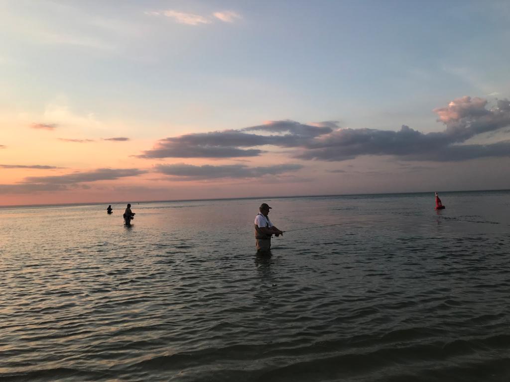 anglers in fishing waders